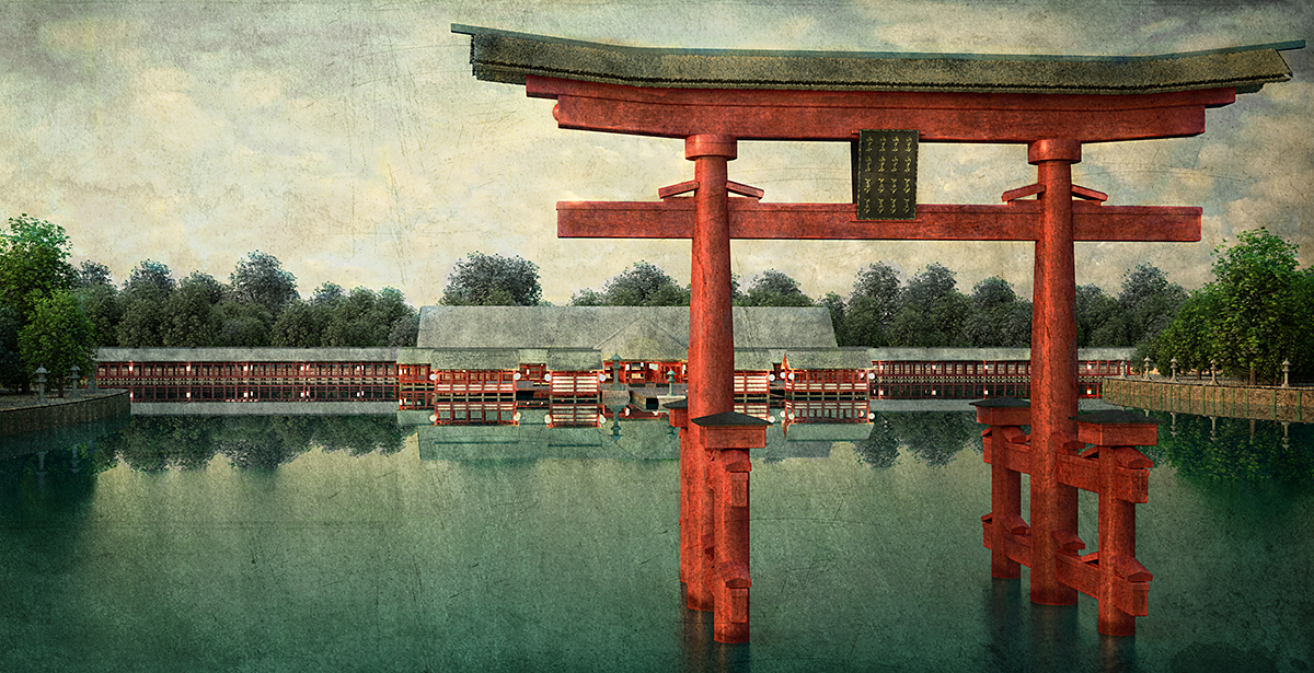 Łukasz Liszko - Digital Painitng / Illustration - Itsukushima Shrine