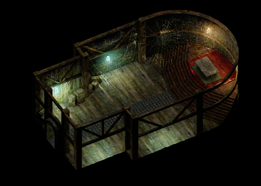 Łukasz Liszko - 3D game art - Baldur's Gate 2 Fan mod isometric map