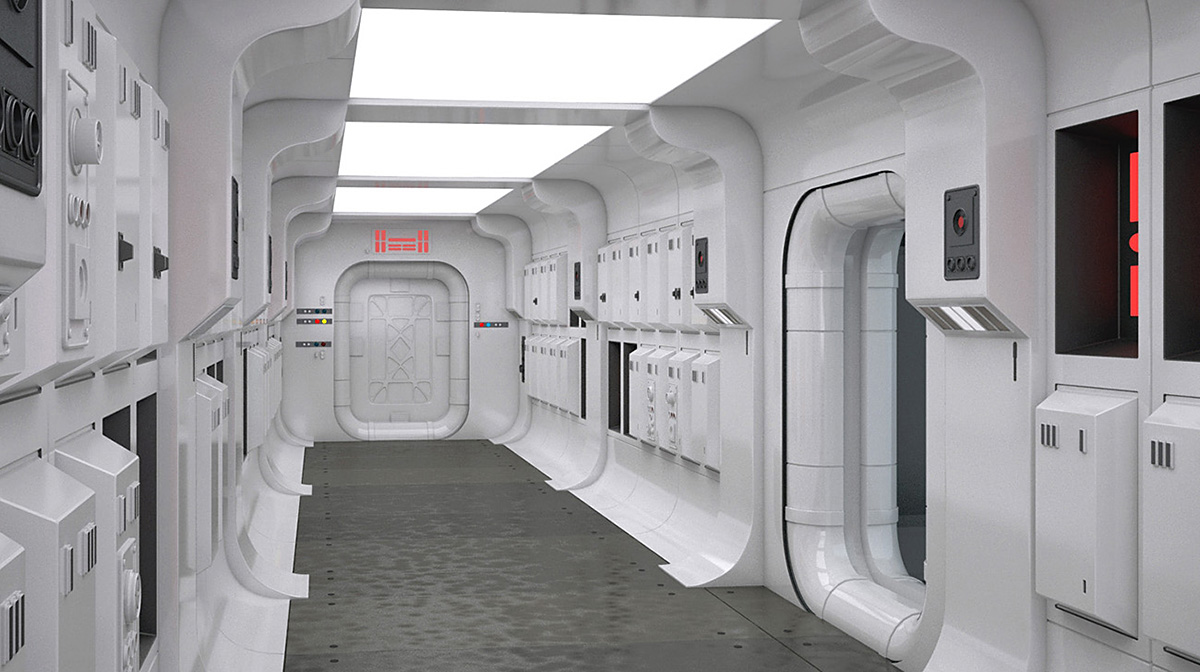 Łukasz Liszko - 3D - Star Wars Rebel Spacefighter Hallway