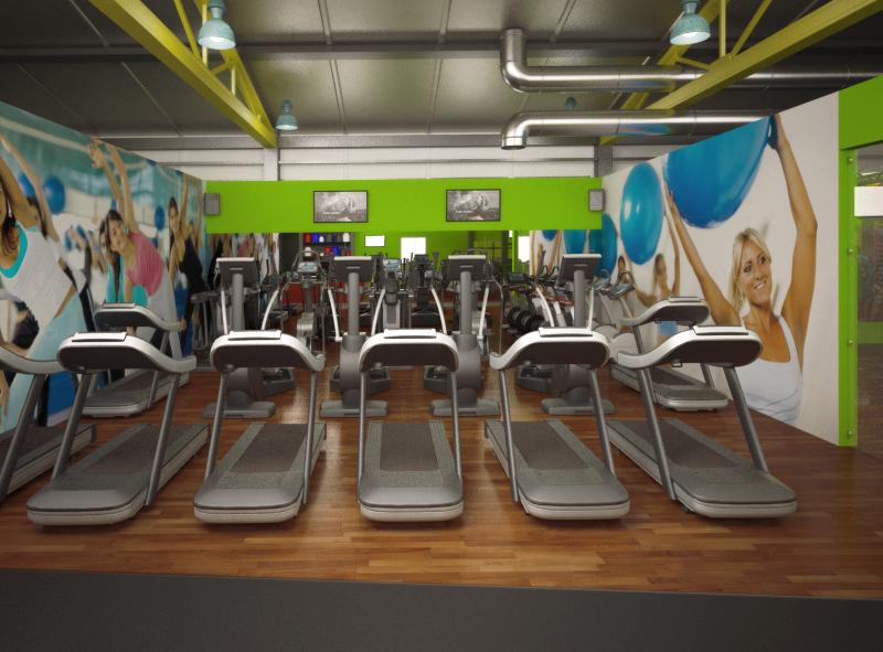 Łukasz Liszko - Wizualizacja 3D - Fitness Gym - interior