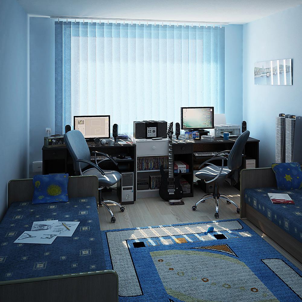 Łukasz Liszko - Wizualizacja 3D - Casual room - interior