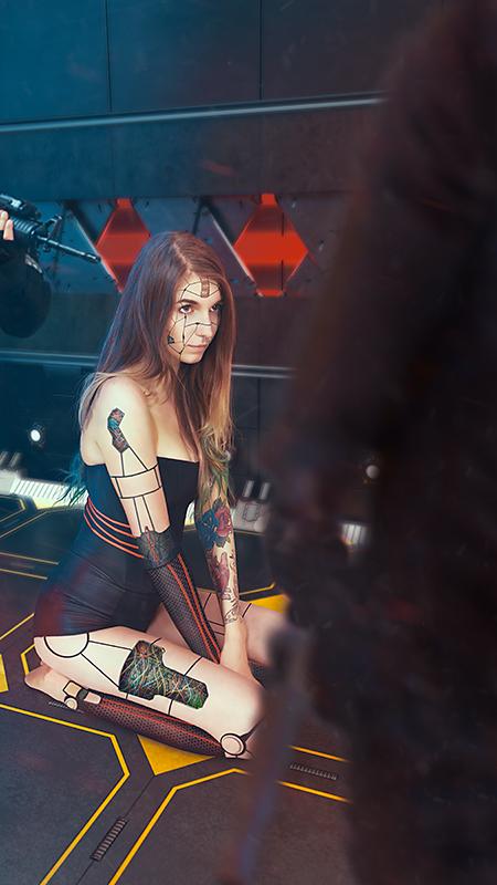 Łukasz Liszko - fotografia / CGI - modelka Dorota Kuna Ashimonster - Cyberpunk Android