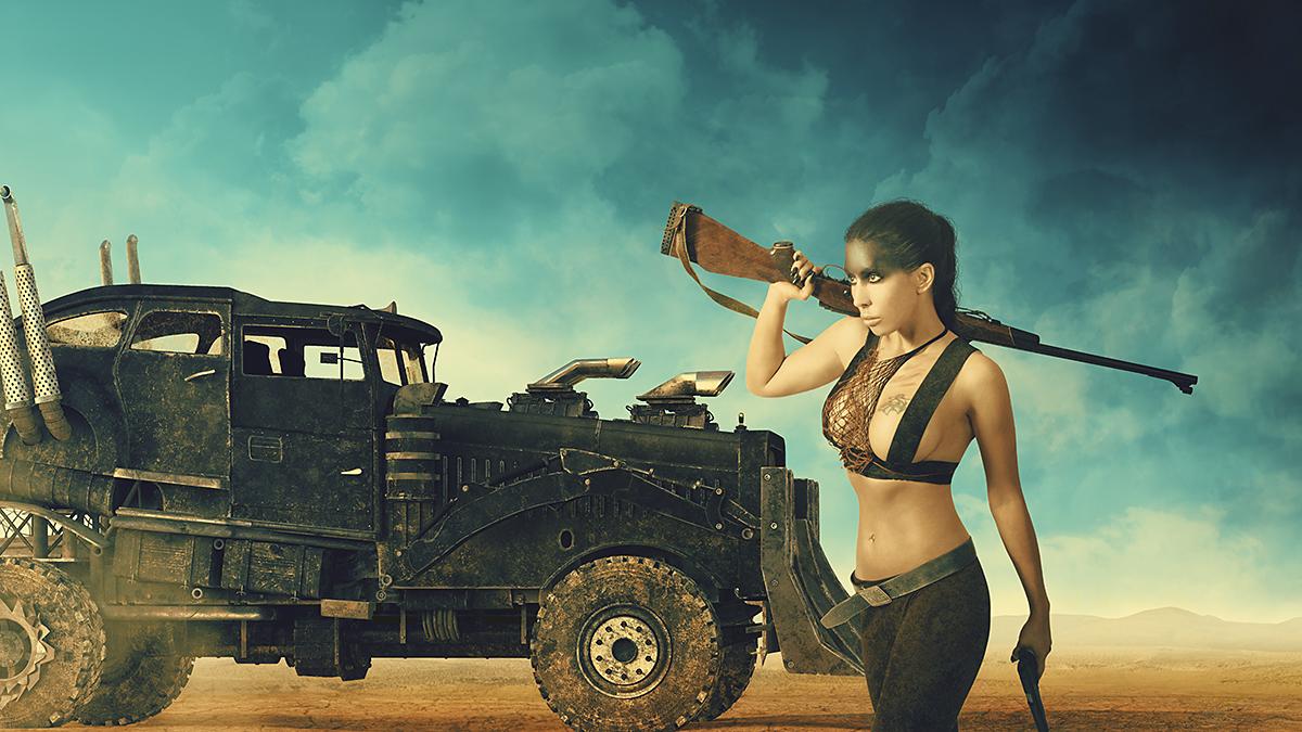 Łukasz Liszko - fotografia / CGI - modelka i mua Anna Maria Szewczak - Mad Max Furiosa