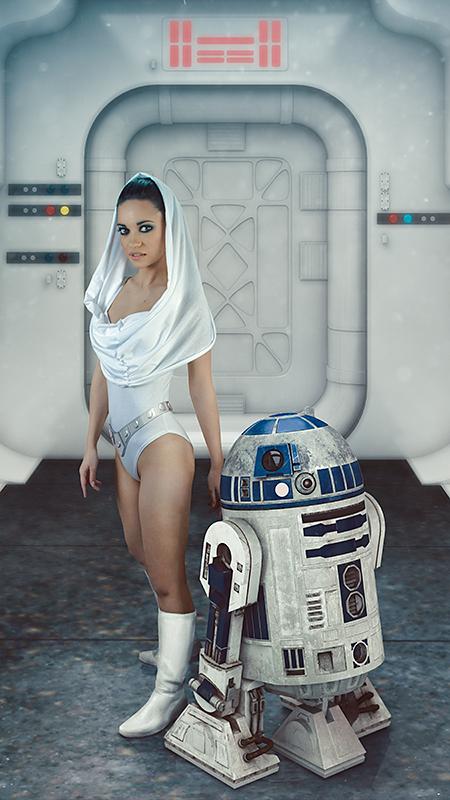 Łukasz Liszko - fotografia / CGI - modelka Cristina Romanyk - Star Wars Princess Leia
