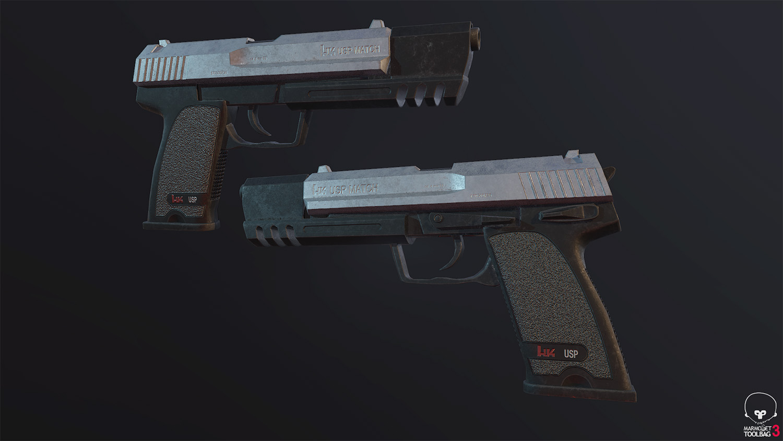 Łukasz Liszko - 3D game art - HK USP Gun