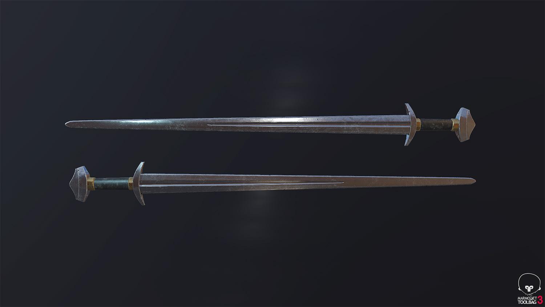 Łukasz Lukasz Liszko - game art - 3d - weapon - broń - sword - miecz