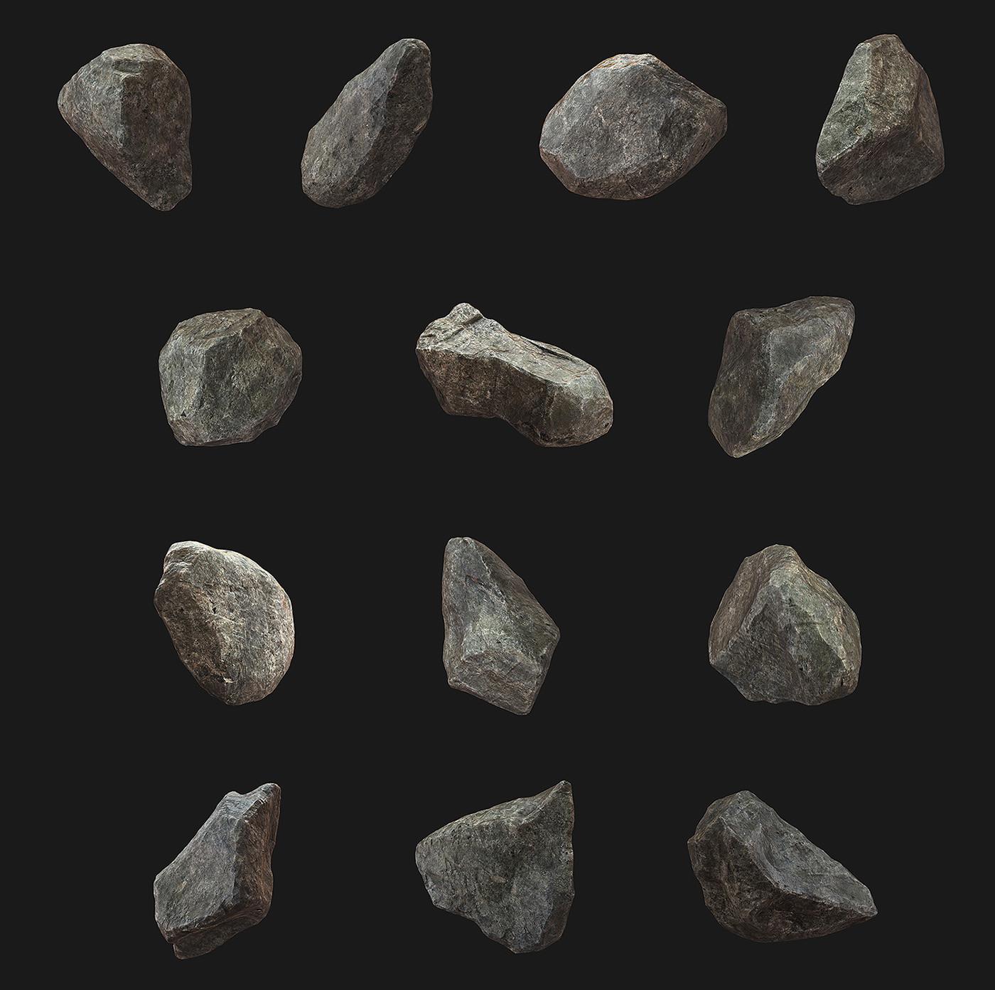 3D Rocks - Sculpted - High poly