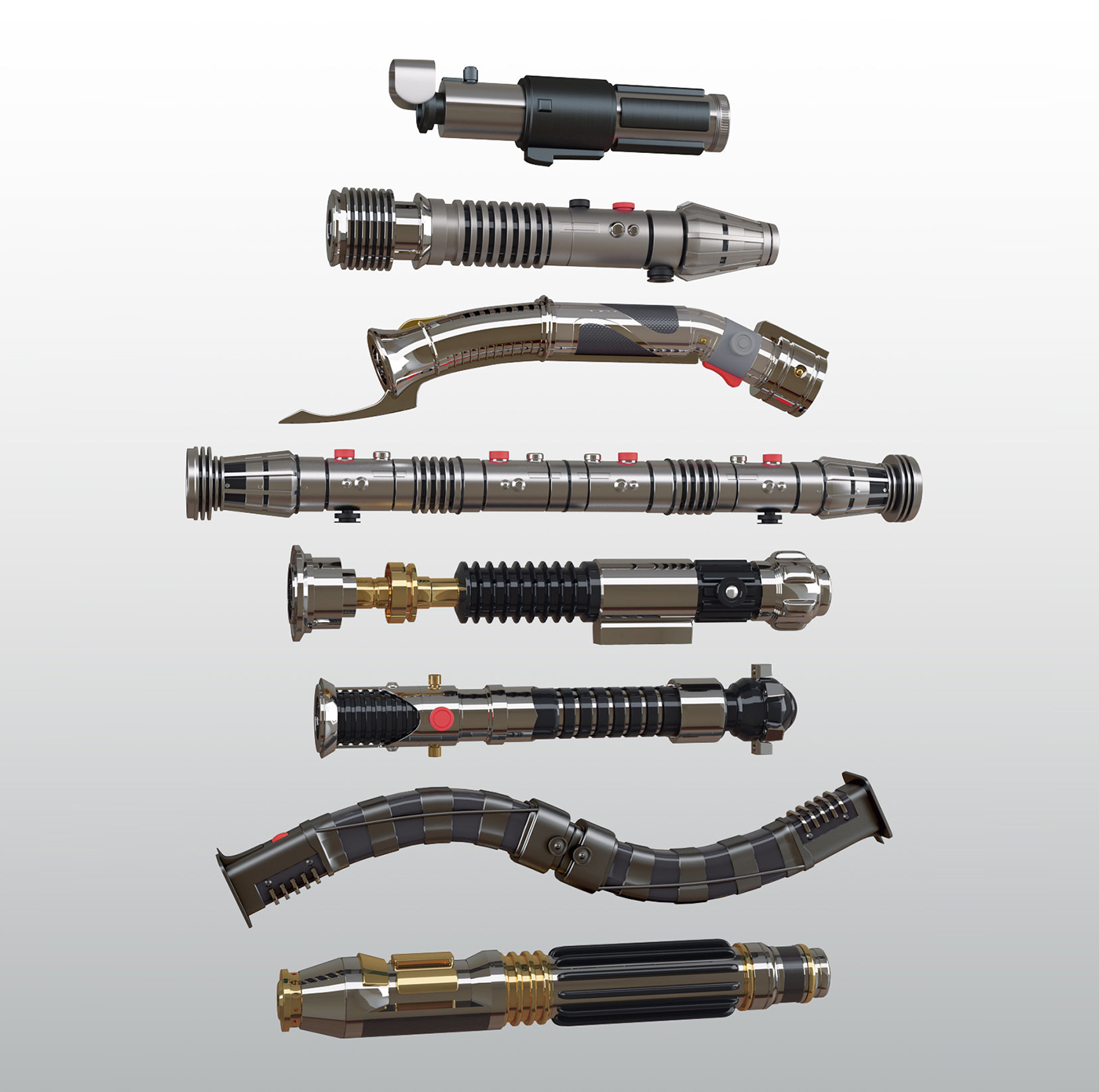 Star Wars Lightsabers High poly