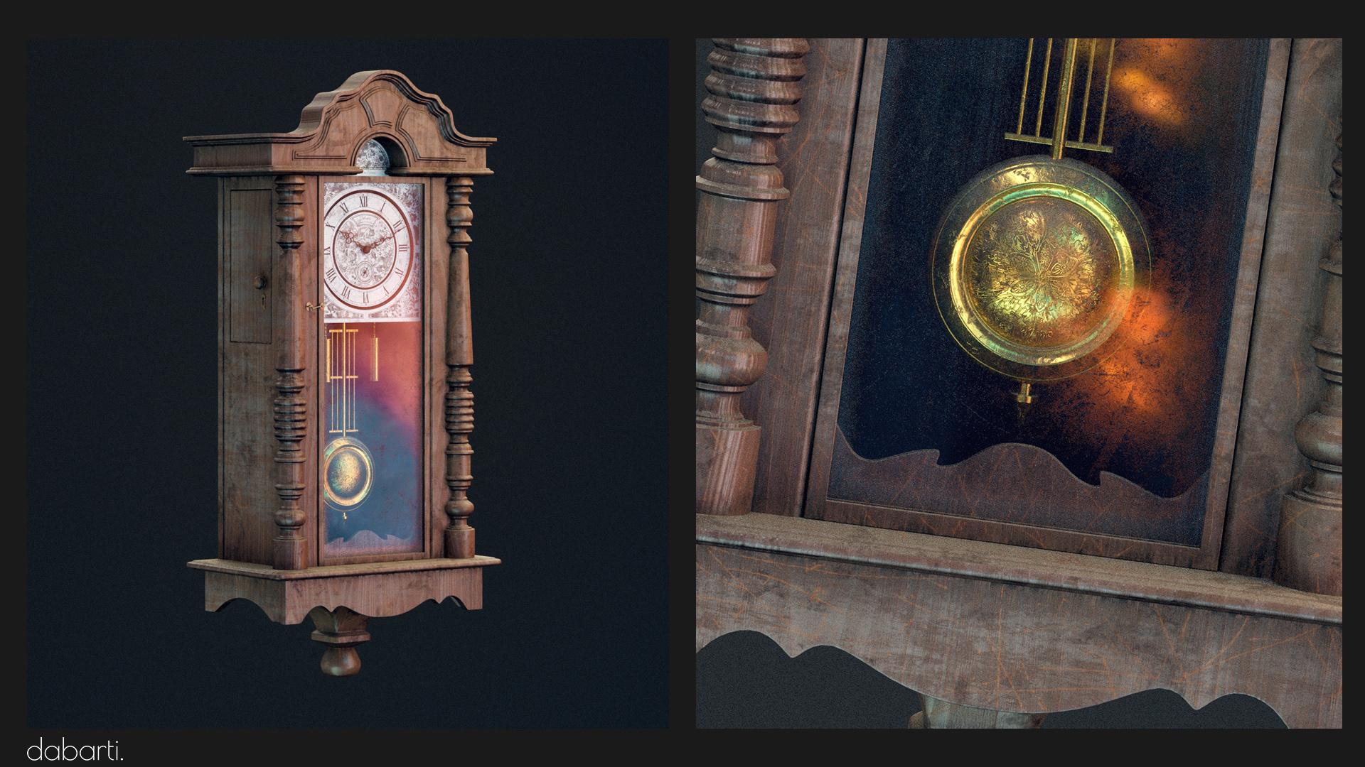 Łukasz Liszko - 3D - Vintage Clock - Made for Dabarti Studio
