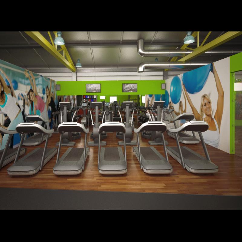 Łukasz Liszko - Wizualizacja 3D - Fintess Gym - interior